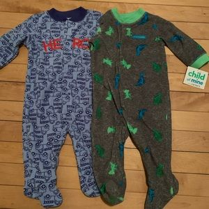 NWT Carter's Fleece Sleepers Footies Baby Outfits
